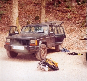 My new dive mobile, Jeep Cherokee 4.0 Ltd with LPG conversion